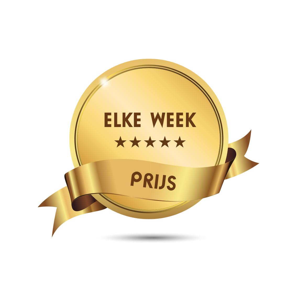 Elke week prijs
